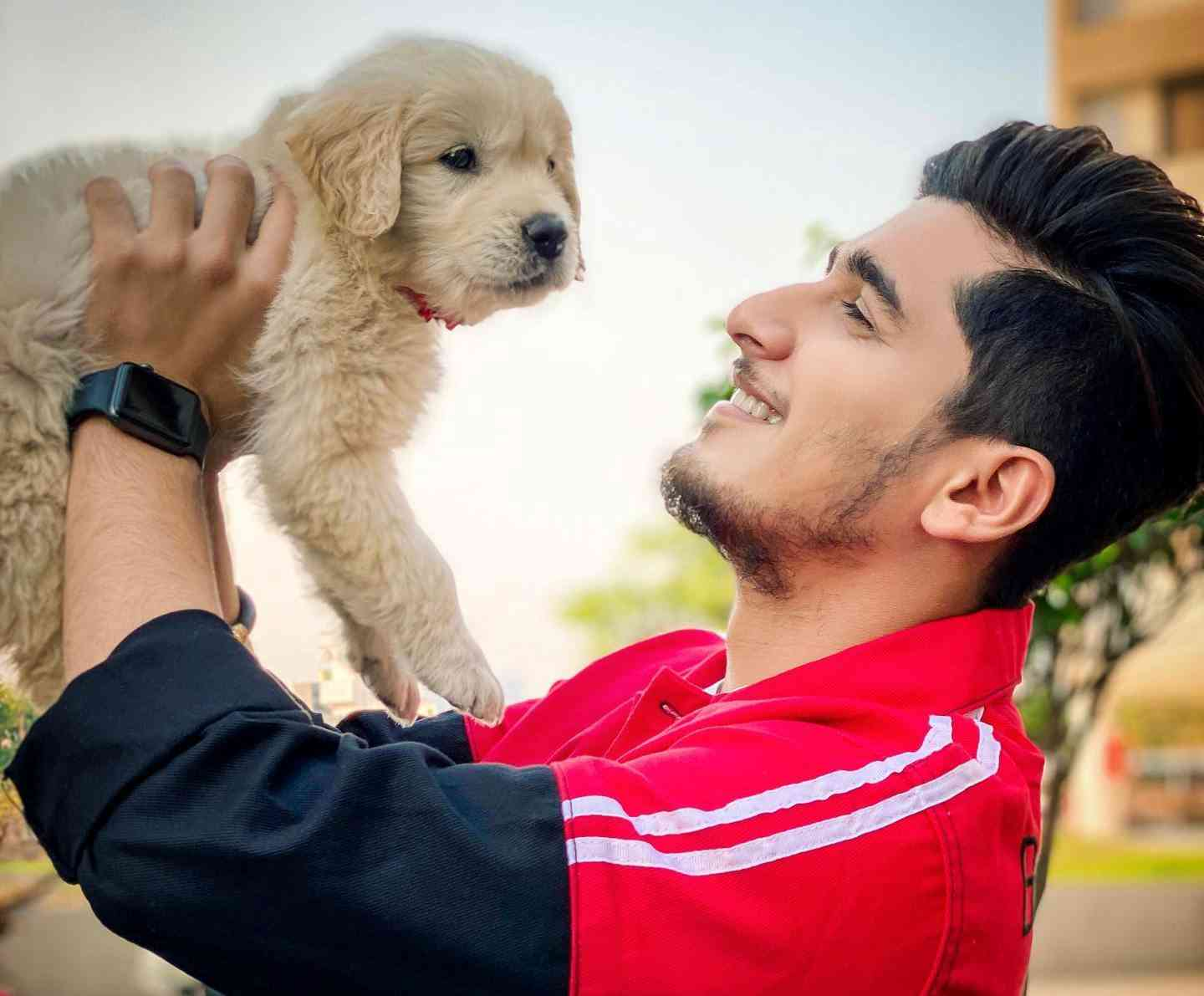 Bhavin Bhanushali with his pet dog
