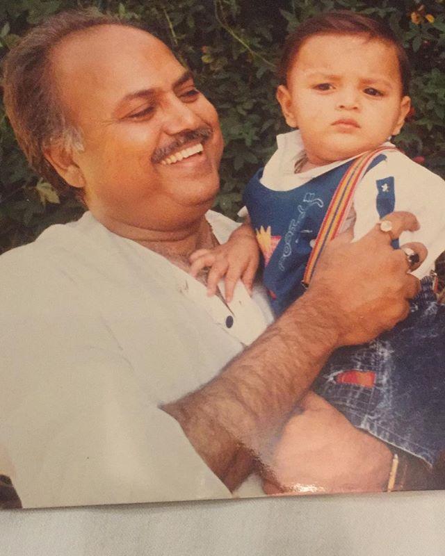 Bunty Bajaj with her father
