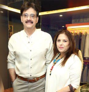 Bunty Bajajwith her husband Sureh Bajaj