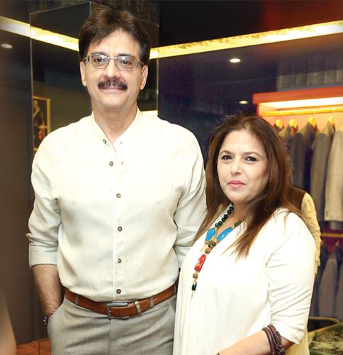 Bunty Bajaj with her husband Sureh Bajaj