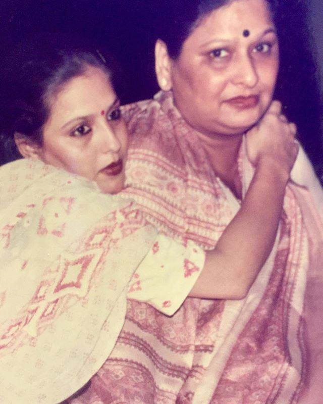 Bunty Bajajwith her mother