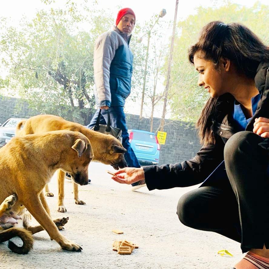 Deepika Yadav is an avid dog lover