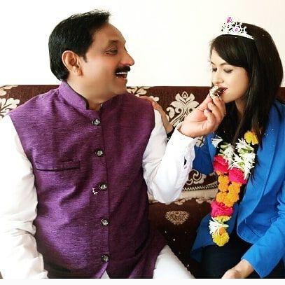 Deepika Yadav with her father
