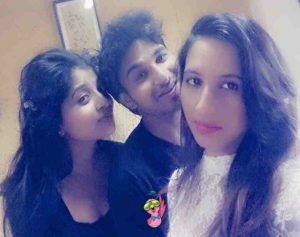 Hansi Parmar with her siblings