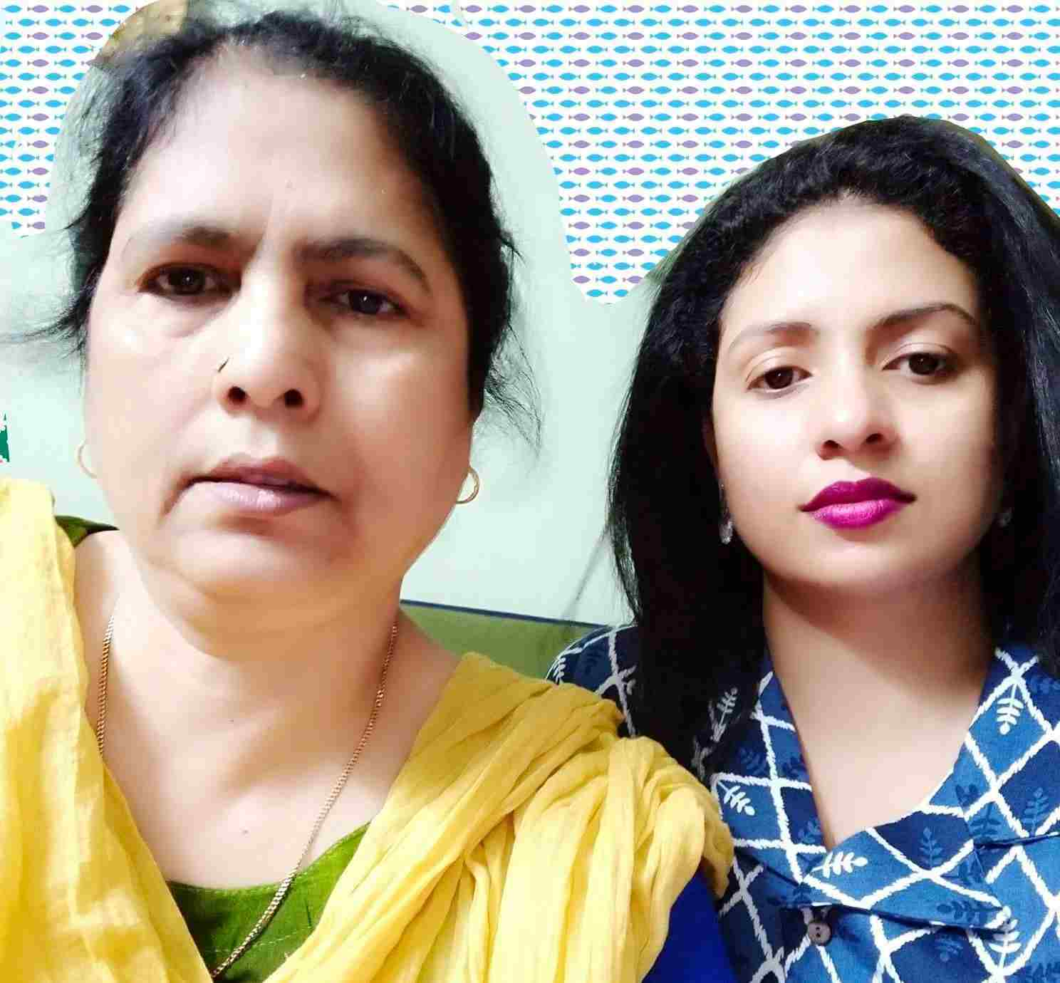 Hasin Jahan with her mother