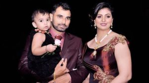 Hasin Jahan with her husband and daughter
