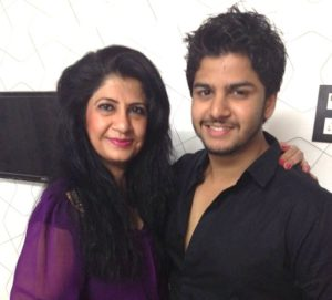 Krish Pathak with his mother