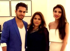 Bunty Bajaj with her Children