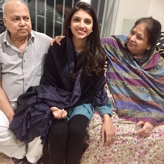Miheeka Bajaj with her grandparents