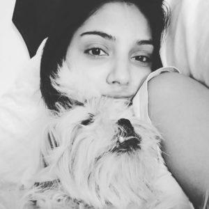 Miheeka Bajaj with her pet dog