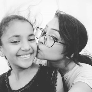 Nehal Vadoliya with her sister