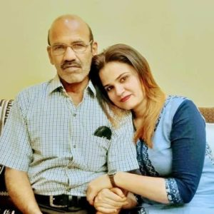 Nida Ahmad with her father