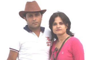 Nida Ahmad with her husband