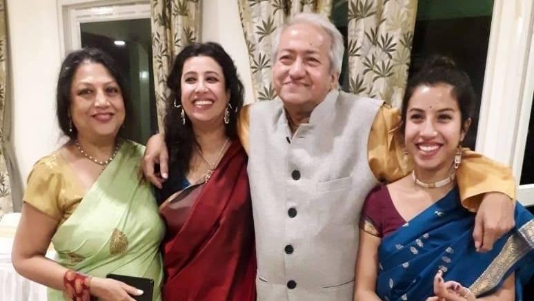 Niharika Lyra Dutt with her family