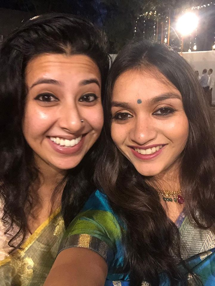Niharika Lyra Dutt with her sister