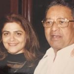 Pinky Roshan with her father
