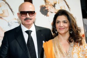 Pinky Roshan with her husband