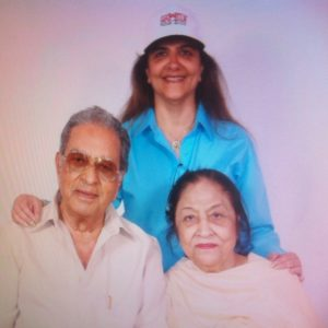 Pinky Roshan with her parents