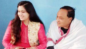 Prachi Devi with her father