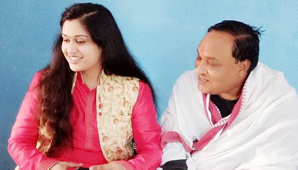 Prachi Devi with her father