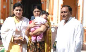 Prachi Devi with her parents