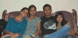 Preksha Mehta with her siblings