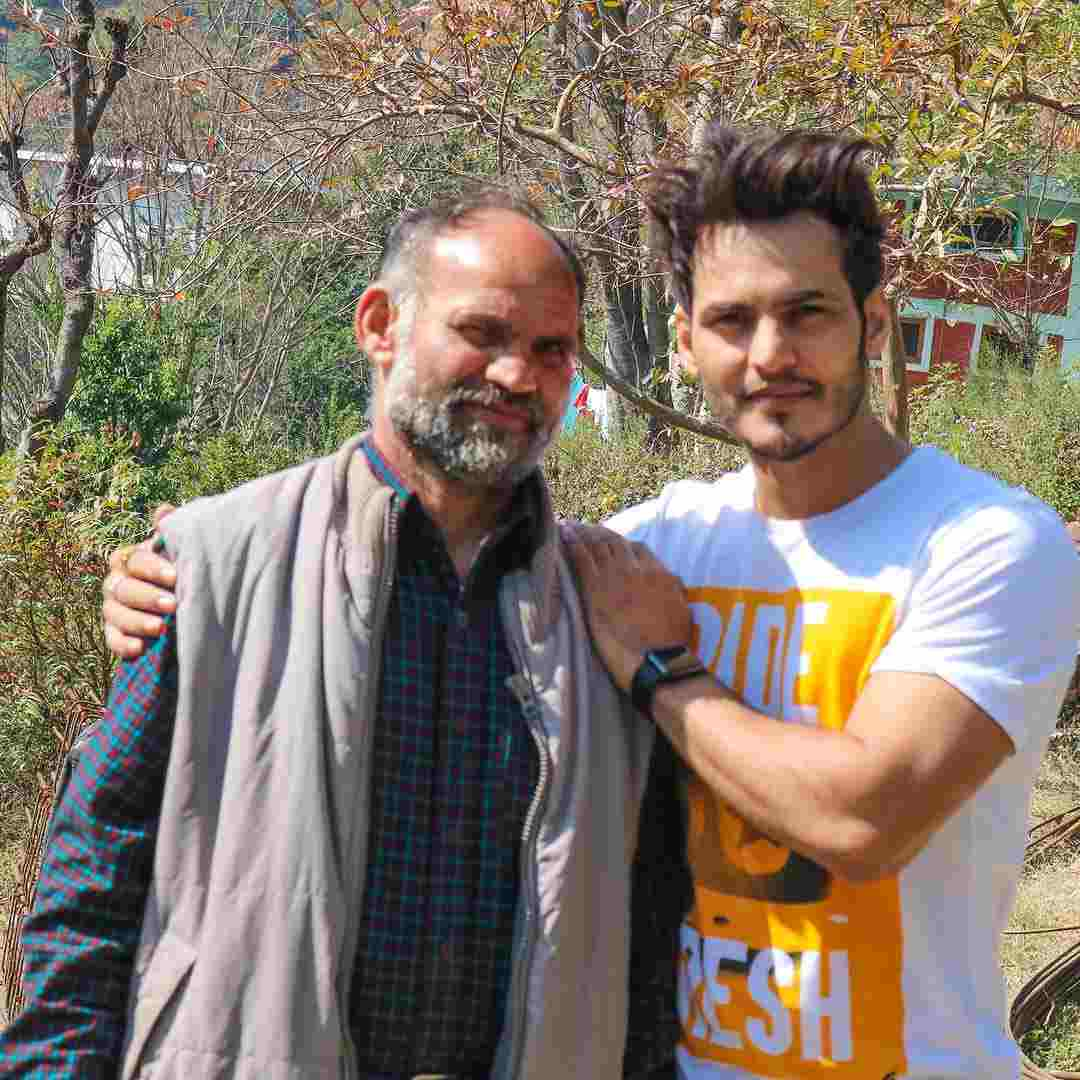 Ravi Bhatia with his father