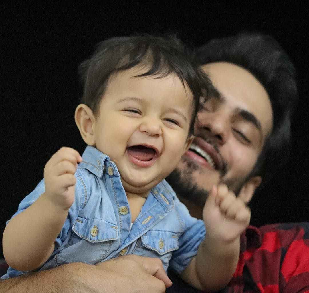 Ravi Bhatia with his son