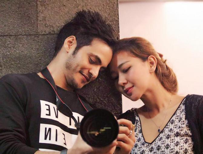 Ravi Bhatia with his wife