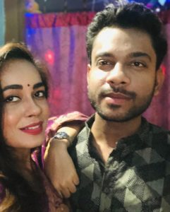 Shikha Sinha with her brother
