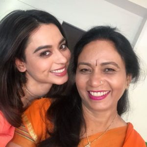 Soundarya Sharma with her mother