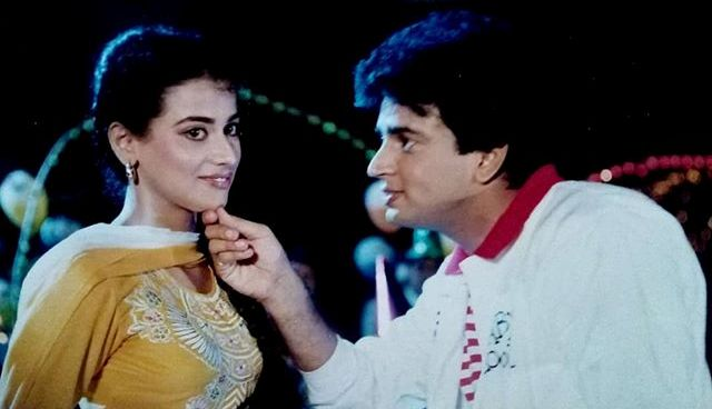 Sunil Lahri in the film Baharon Ke Manzil with actress Mona Ambegaonkar