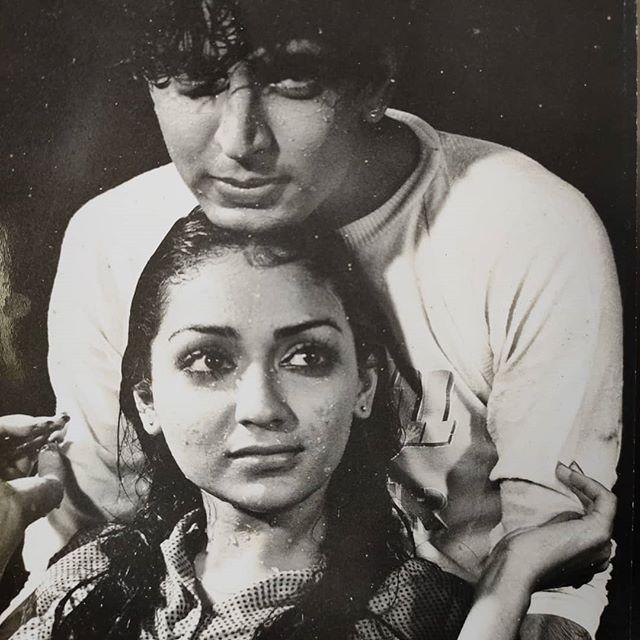 Sunil Lahri with Anuradha Patel