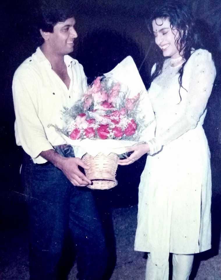 Sunil Lahri with Juhi Chawla
