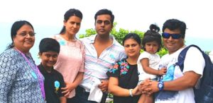 Sushant Sinha with his family