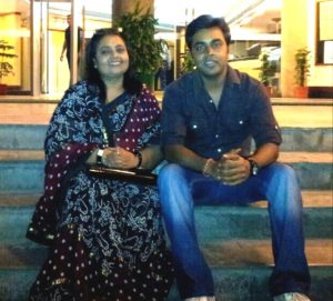 Sushant Sinha with his mother