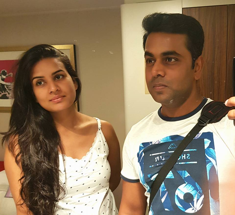 Sushant Sinha with his wife
