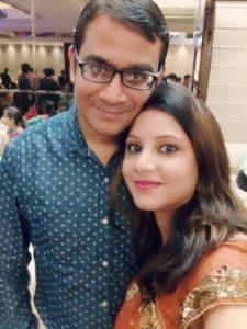 Sweta Srivastava with her husband