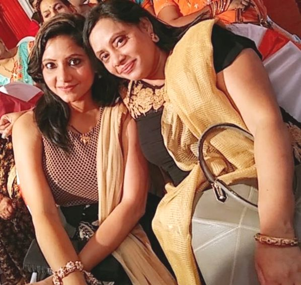 Sweta Srivastava with her sister