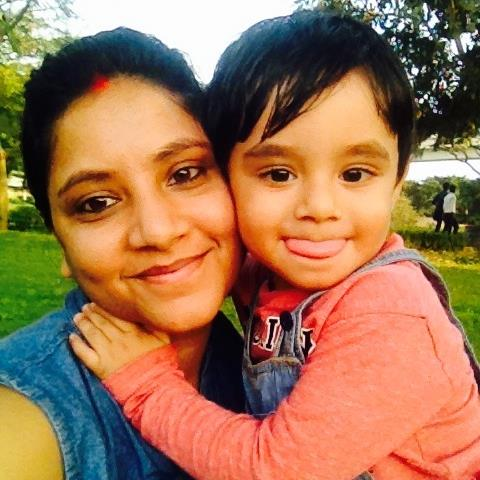 Sweta Srivastava with her son