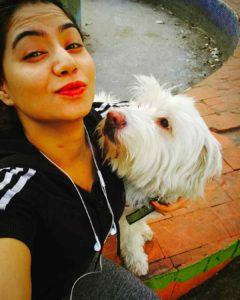 Tanya Desai dog lover