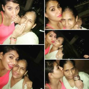 Tanya Desai with her mother