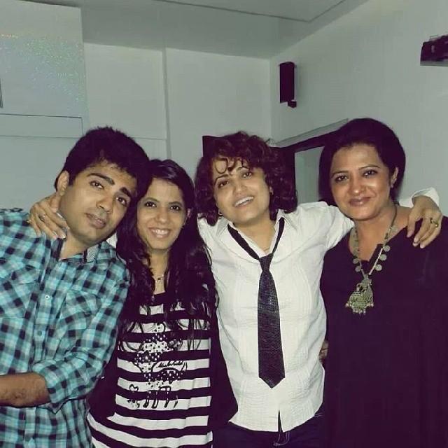 Usha Bachani with her siblings