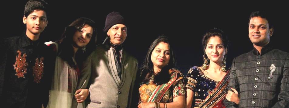 Arpita Arya with her family