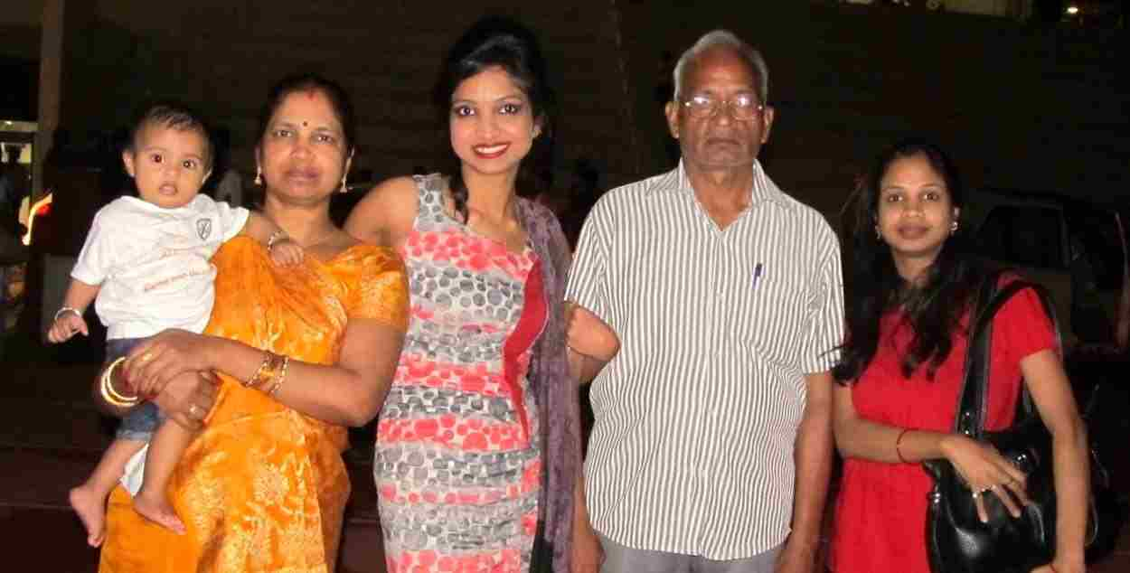 Garima Maurya with her family