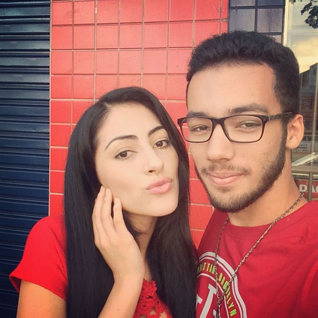 Jeniffer Piccinato with her brother