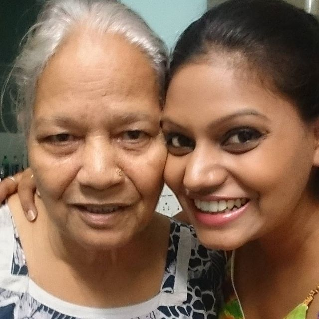 Nidhi Mahawan with her grandmother