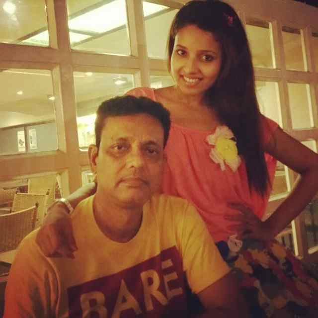 Pamela Mondal with her father