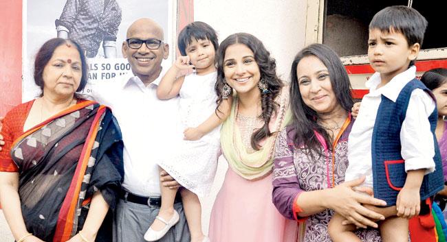 Priya Balan with her family