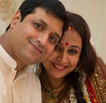 Priya Balan with her husband